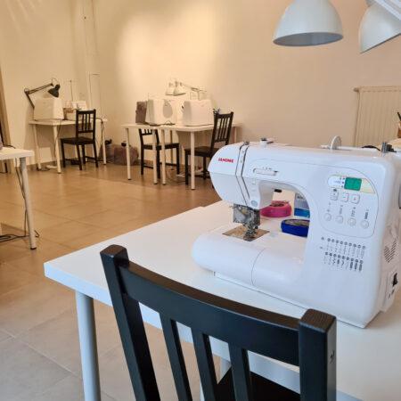 atelier local avec matériel Coursdecouture.org Tournai