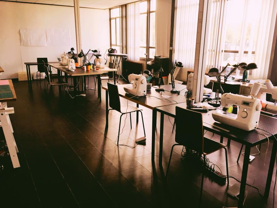 Notre local de couture à Mons